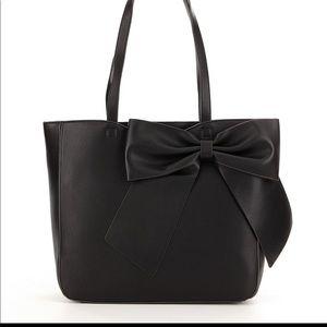 Karl Lagerfeld Paris- Fara Bow faux leather tote.